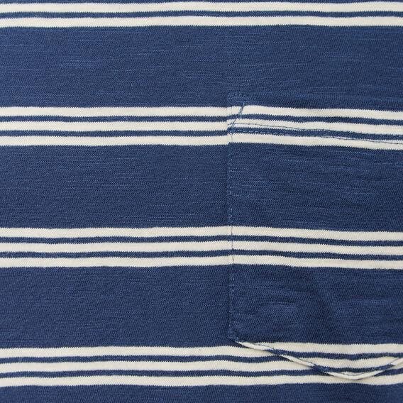TRIPLE STRIPE CREW NECK T-SHIRT  OXFORD BLUE/LT STONE  hi-res