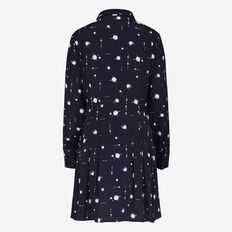 SPLATTER SPOT SHIRT DRESS  NOCTURNAL/WINTER WHI  hi-res