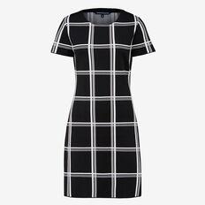 WOODLANDS CHECK DRESS  BLACK/SUMMER WHITE  hi-res