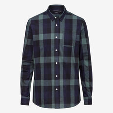 FOREST CHECK SLIM FIT SHIRT  NAVY/FOREST GREEN  hi-res