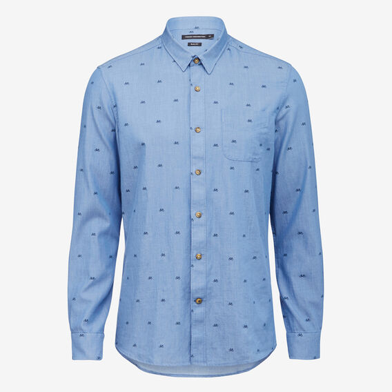 BICYCLE SLIM FIT SHIRT  MID BLUE  hi-res