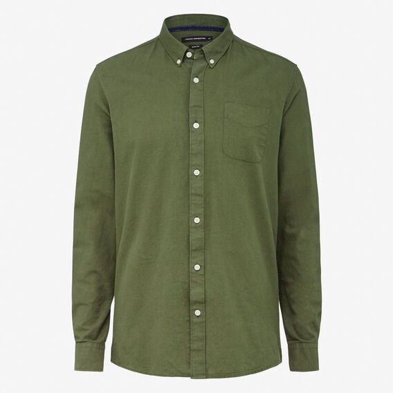 OXFORD SLIM FIT SHIRT  OLIVE  hi-res