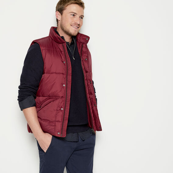 BOSTON PUFFER VEST  COLLEGE RED  hi-res