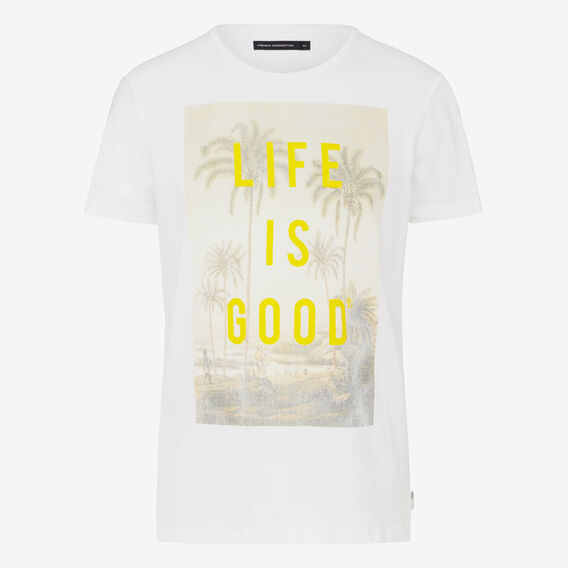 LIFE IS GOOD CREW NECK T-SHIRT  WHITE  hi-res