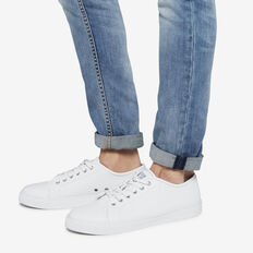 COMPASS LEATHER SNEAKER  WHITE  hi-res