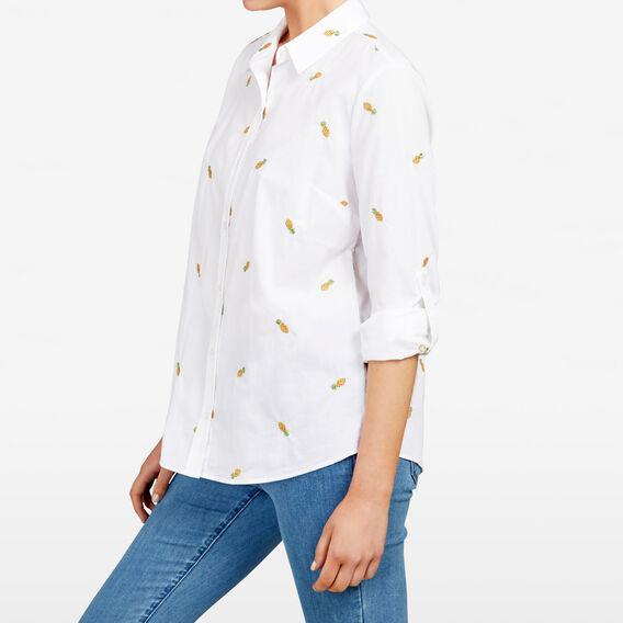 PINEAPPLE EMBROIDERED SHIRT  SUMMER WHITE/MULTI  hi-res