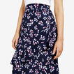 FLORAL RUFFLE MIDI SKIRT  NOCTURNAL/MULTI  hi-res