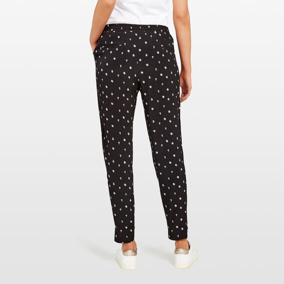 SOFT PRINT PANT  BLACK/SUMMER WHITE  hi-res
