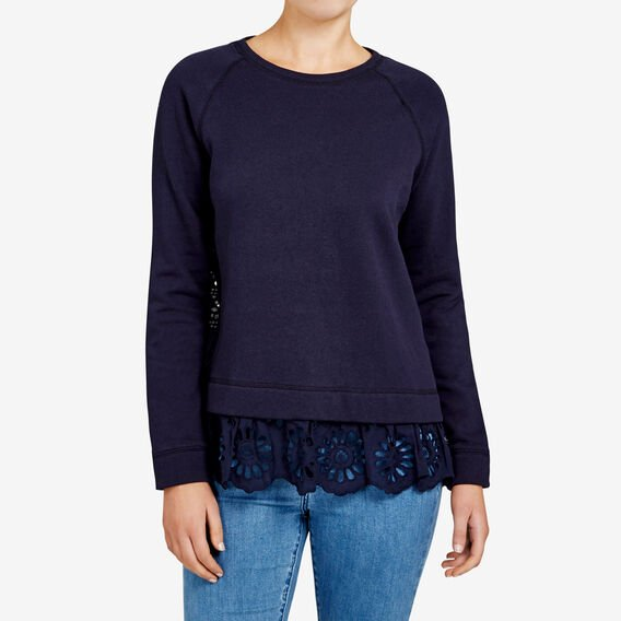 BROIDERIE LACE BACK SWEAT  NOCTURNAL  hi-res