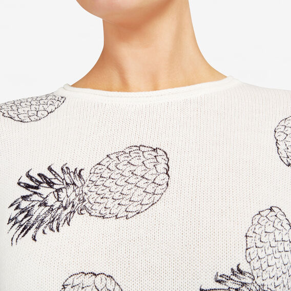PINEAPPLE PRINTED KNIT  SUMMER WHITE/NOCTURN  hi-res