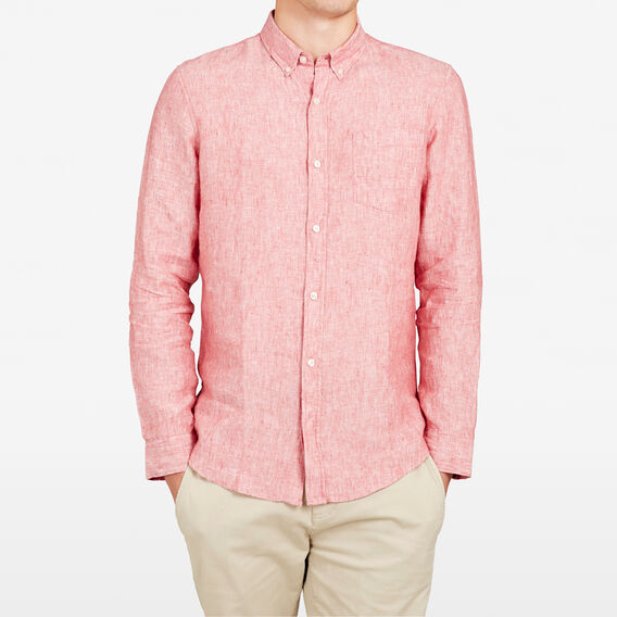LINEN REGULAR FIT SHIRT  MELON  hi-res