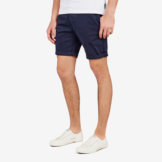 CHARLIE STRETCH CHINO SHORT  MIDNIGHT  hi-res