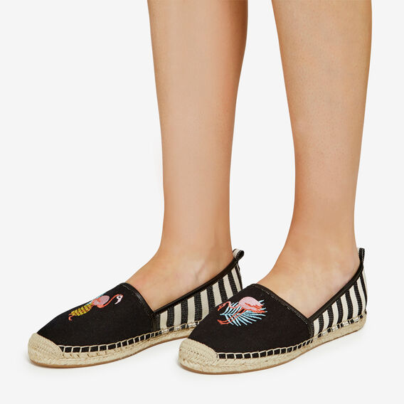 FLAMINGO ESPADRILLES  BLACK MULTI  hi-res