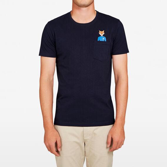 RUDE FOX POCKET T-SHIRT  MARINE BLUE  hi-res