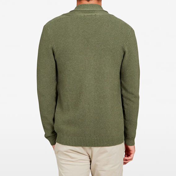 SAFARI SHAWL NECK CARDIGAN  PINE GREEN MARLE  hi-res