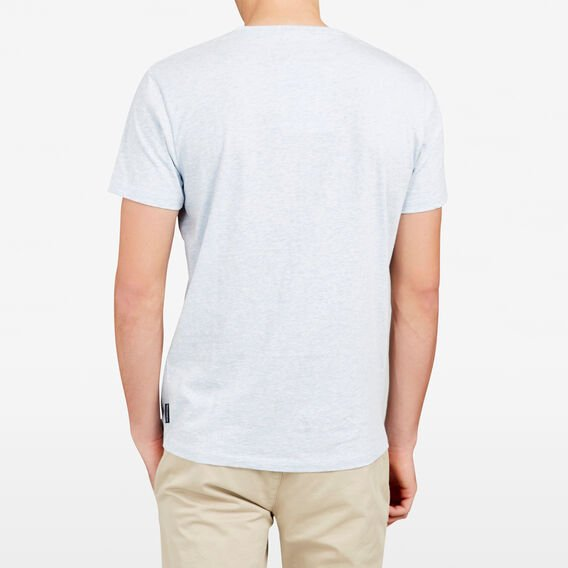 CLASSIC V NECK T-SHIRT  LIGHT SKY BLUE MARLE  hi-res