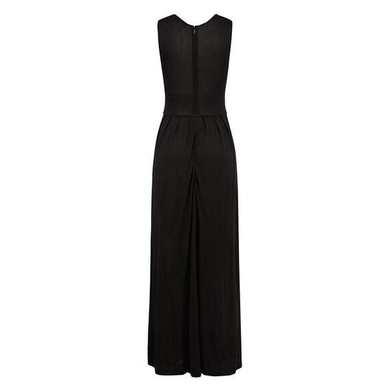 METAL MEADOW DRESS  BLACK  hi-res