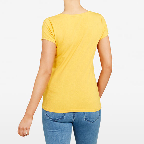HAYLEY STRETCH SCOOP NECK TEE  TUMERIC  hi-res