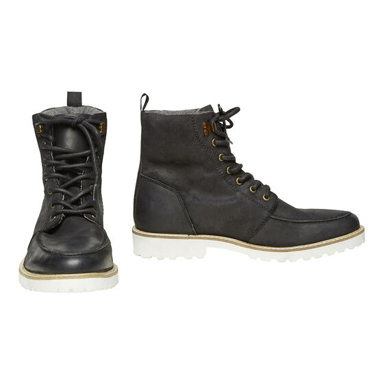LEATHER HIKING BOOT  BLACK  hi-res