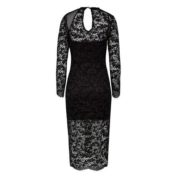 MILLIE LACE DRESS  BLACK  hi-res