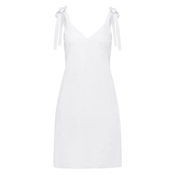 BOW SHOULDER DRESS  SUMMER WHITE  hi-res