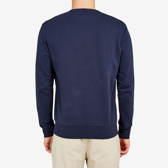 THROW IN THE TOWELLING SWEAT  MARINE BLUE  hi-res