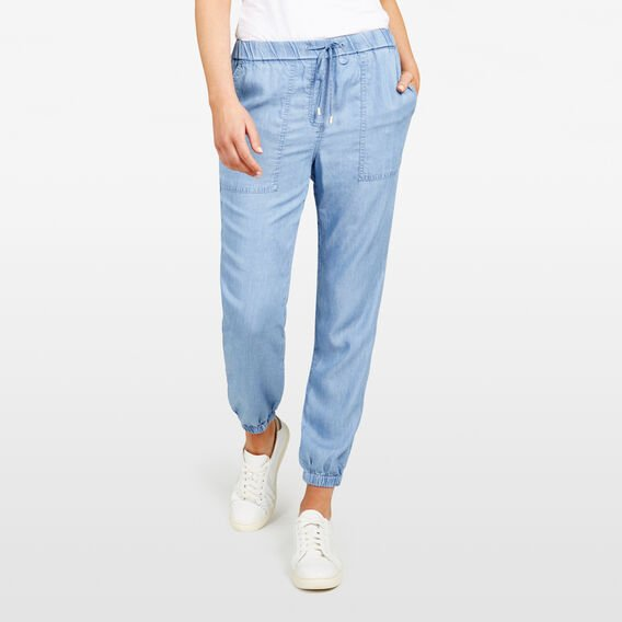 LYOCELL CASUAL PANT  CHAMBRAY  hi-res