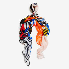 MOROCCAN MIX SQUARE SCARF  MULTI  hi-res