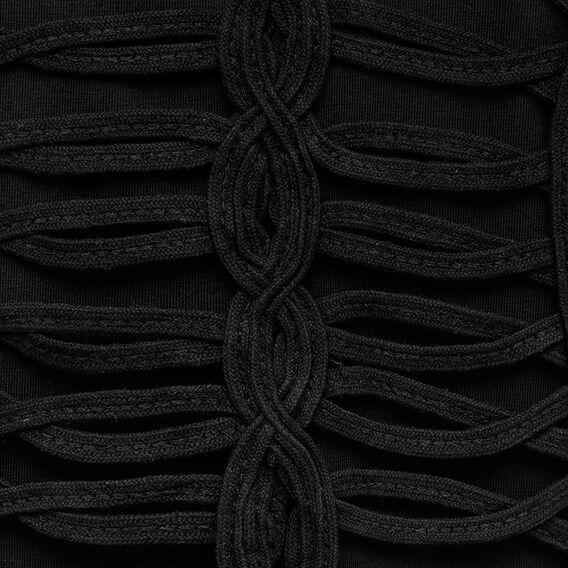 FRINGE TOP  BLACK  hi-res