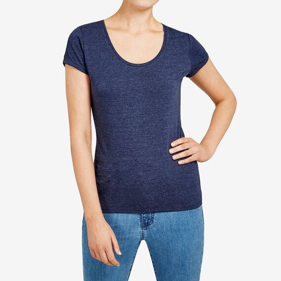 HAYLEY STRETCH SCOOP NECK TEE  NOCTURNAL MARLE  hi-res