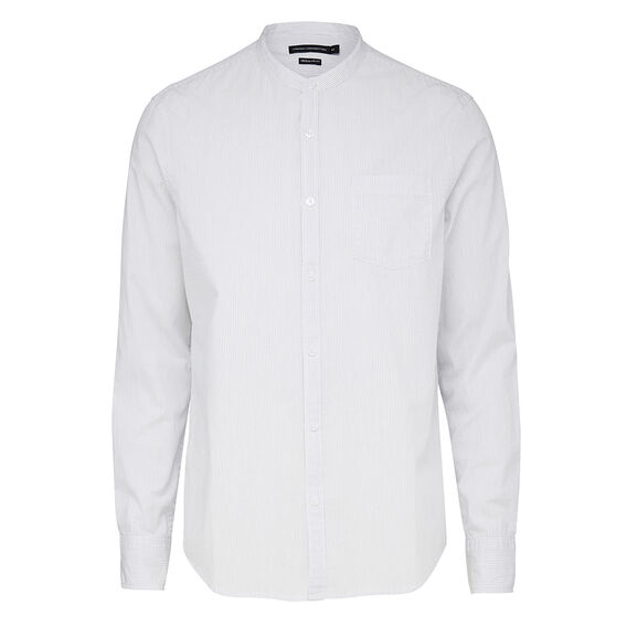 MINI COLLAR PINSTRIPE REGULAR FIT SHIRT  OFF WHITE  hi-res