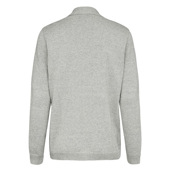 LIGHTWEIGHT SHAWL NECK CARDIGAN  GREY MARLE  hi-res