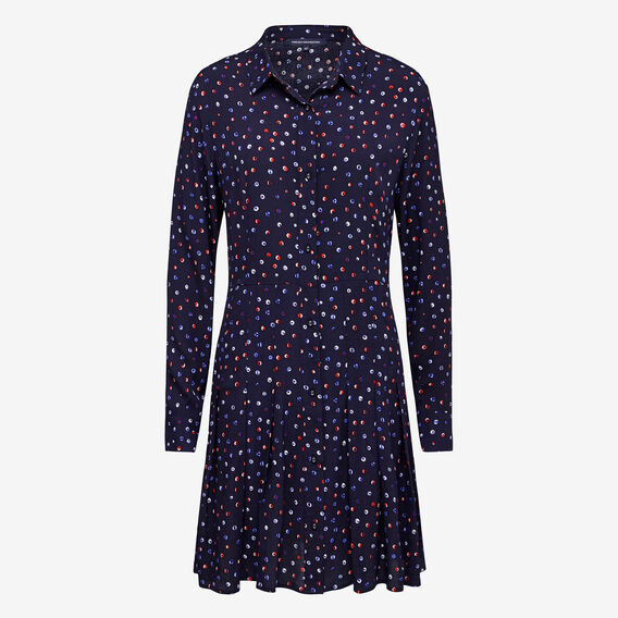 RAINBOW SNOW SHIRT DRESS  NOCTURNAL /MULTI  hi-res
