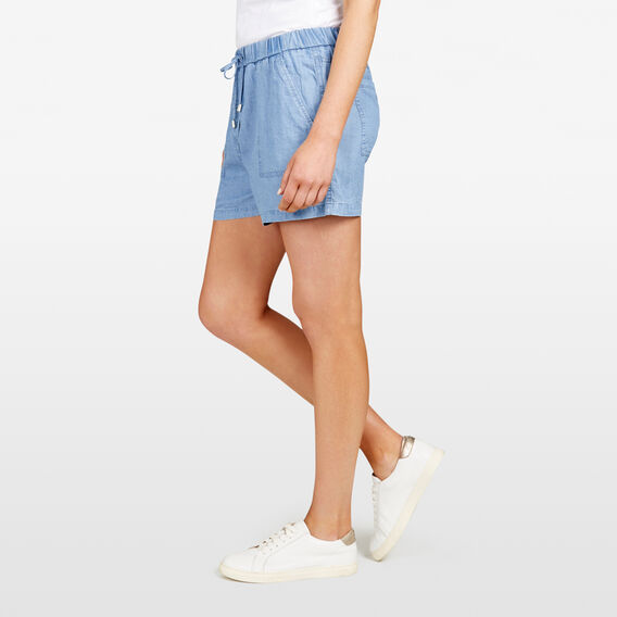 CHAMBRAY LYOCELL SHORT  CHAMBRAY  hi-res