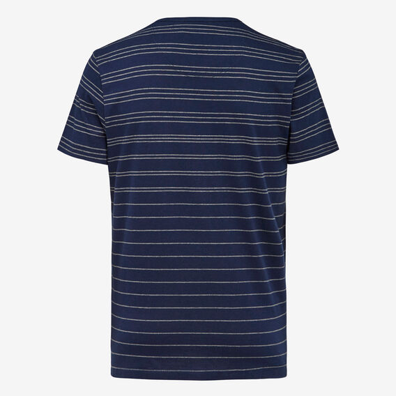 GRADED STRIPE CREW NECK T-SHIRT  MARINE BLUE/CHARCOAL  hi-res