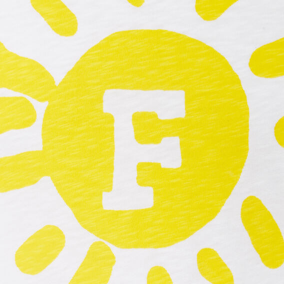 SUNSHINE CREW NECK T-SHIRT  OPTIC WHITE/SUNSHINE  hi-res