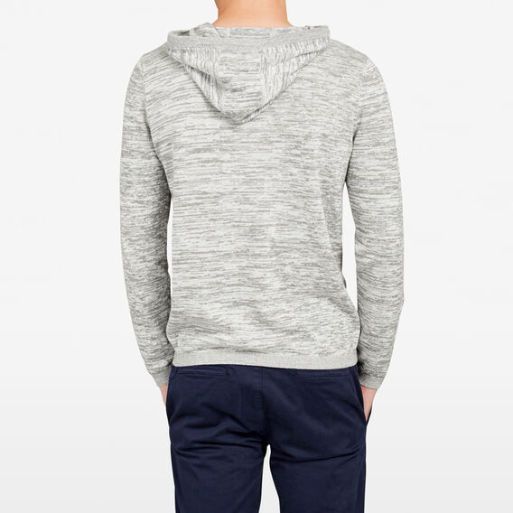HOODED KNIT  LIGHT GREY MARLE  hi-res