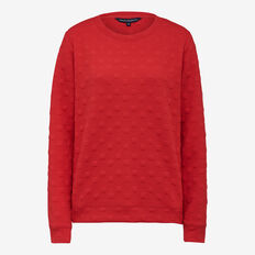 TEXTURED SPOT SWEAT  BRIGHT RED  hi-res