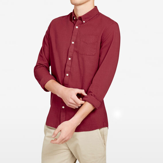 OXFORD SLIM FIT SHIRT  COLLEGE RED  hi-res