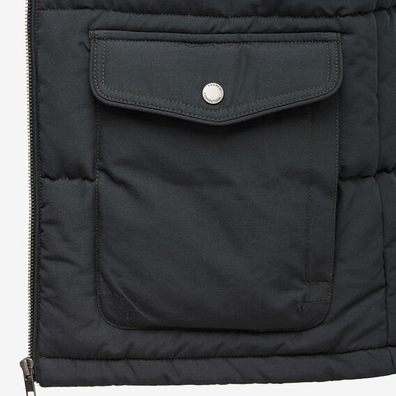 DOUBLE POCKET PUFFER VEST  FOREST GREEN  hi-res