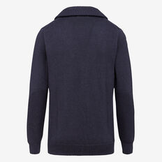 BOSTON SHAWL NECK CARDIGAN  NAVY MELANGE  hi-res