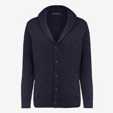 SHAWL NECK CARDIGAN  NAVY MELANGE  hi-res