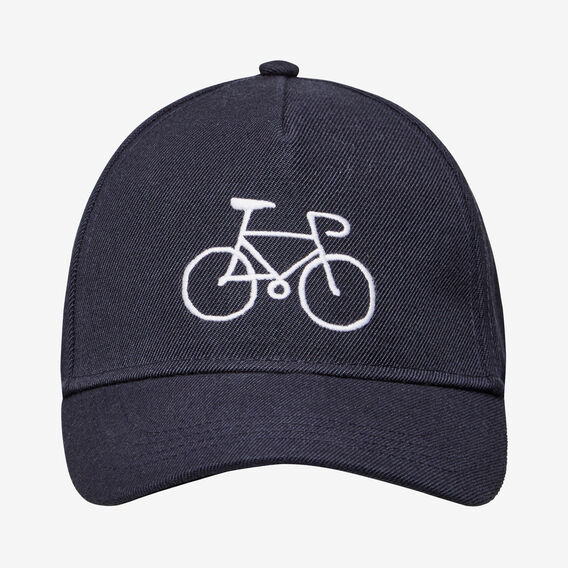 EMBROIDERED BICYCLE CAP  NAVY  hi-res