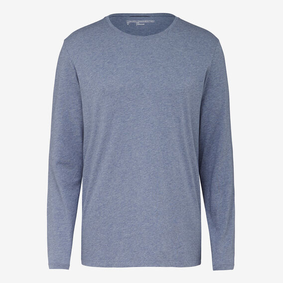 CLASSIC LONG SLEEVE T-SHIRT  ACADEMY BLUE MEL  hi-res