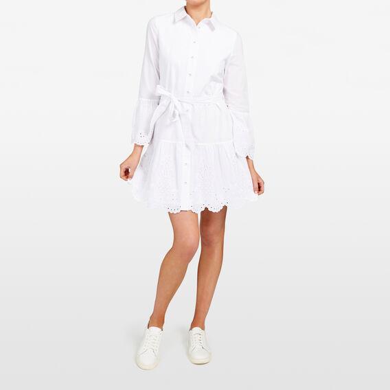 EMBROIDERED FRUIT SHIRT DRESS  SUMMER WHITE  hi-res