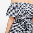 OFF SHOULDER GINGHAM DRESS  SUMMER WHITE/NOCTURN  hi-res