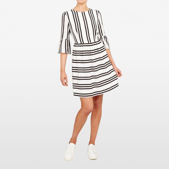 STRIPE DRESS  SUMMER WHITE/BLACK  hi-res