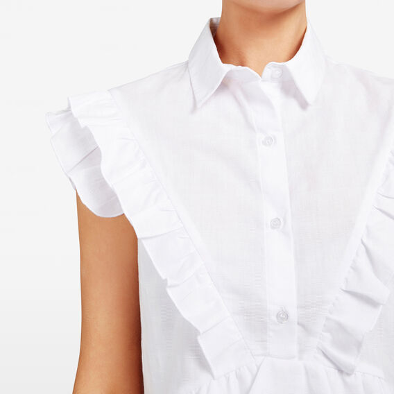 RUFFLE SHIRT  SUMMER WHITE  hi-res