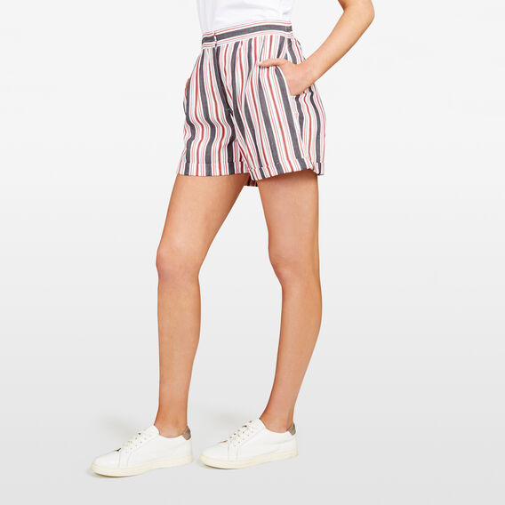 STRIPE SHORT  SUMMER WH/NOCT/RED  hi-res