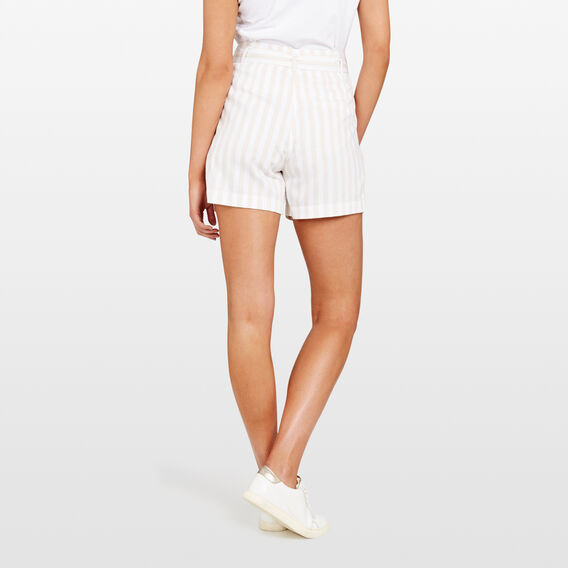 STRIPE PAPERBAG WAIST SHORT  STONE/SUMMER WHITE  hi-res